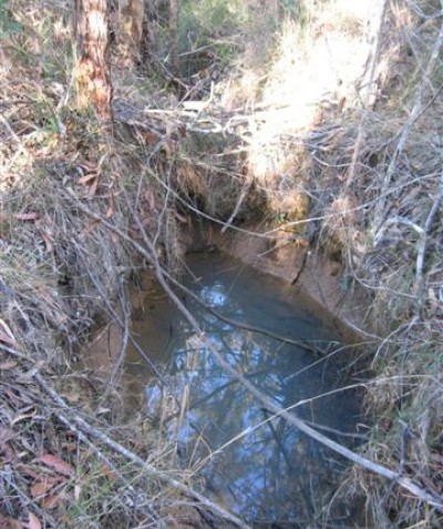 Shallow water holes searched pre clearing operations, Tabbimoble via Woodburn